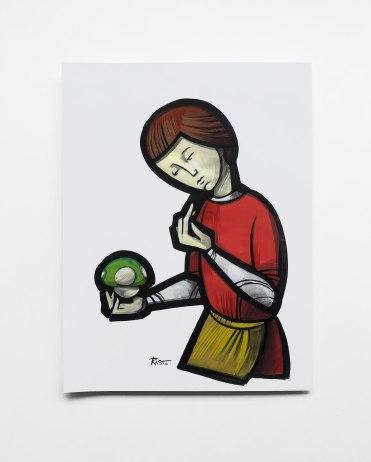 Portrait-avec-le-champignon-vert